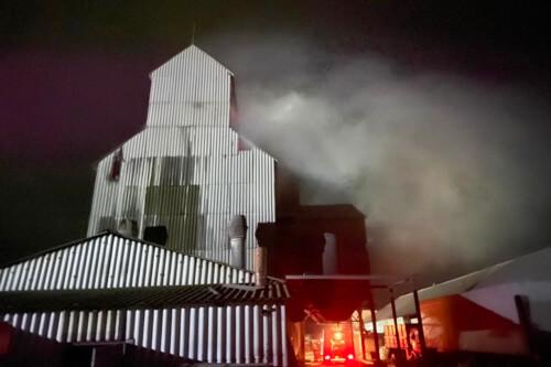 У Судилківській ОТГ вогонь знищив тонну кукурудзи на сушарці