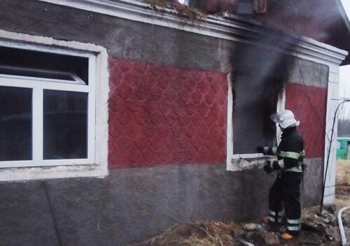 У Грицівській ОТГ через коротке замикання ледь не згорів будинок
