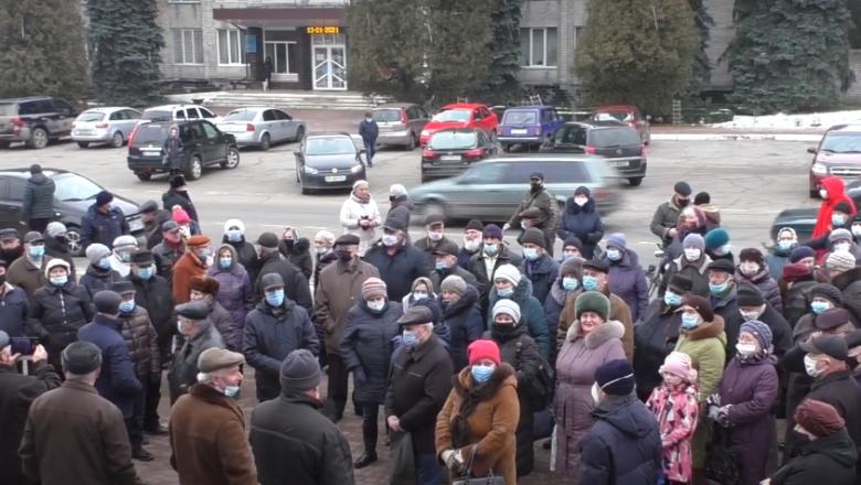 Славутчани зібрались на тарифний майдан