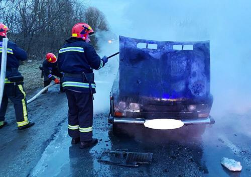 Автомобіль горів, Шепетівщина, пожежа, жигуль