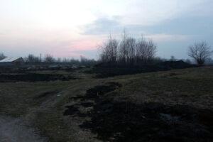 Полонне, підпал сухої трави, пожежа