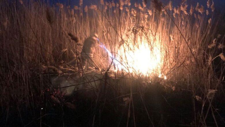 На Полонщині ледь не вигорів гектар поля