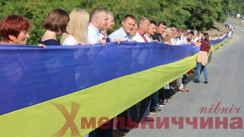 Хмельницьку та Тернопільську області об'єднали прапором-рекордсменом