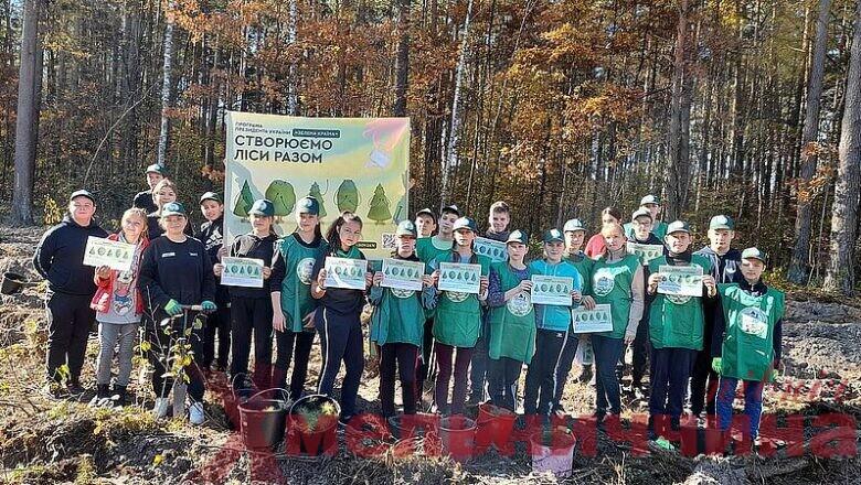 Створюють ліси разом: Славутський лісгосп активно долучає до акції представників влади, молодь та громадськість