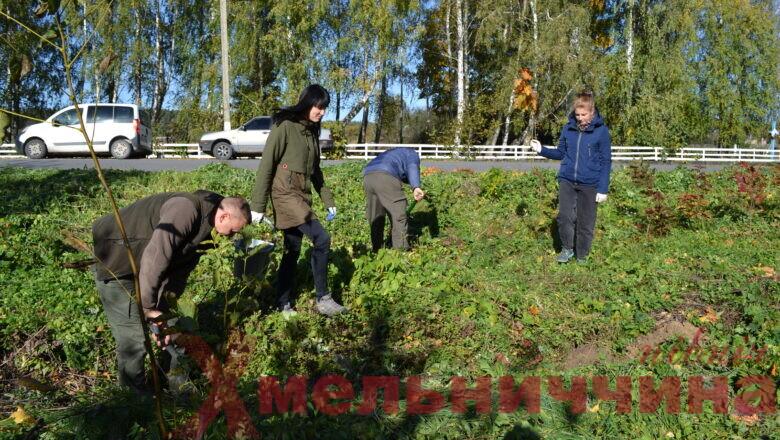 Працівники НПП «Мале Полісся» облагородили та озеленили сквер на Ізяславщині