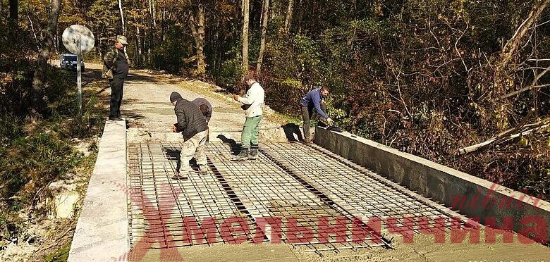 Ізяславські лісівники ремонтують міст, що з'єднує три громади